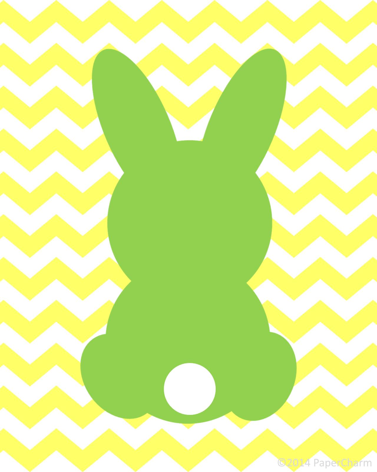 Easter silhouette clip art. Bunny clipart modern