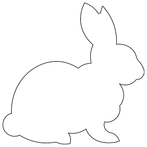 Bunny clipart outline. Lily street digitized longarm