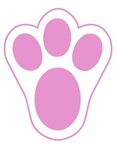 Print using these for. Bunny clipart paw