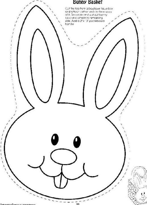 Patterns printables easter hat. Bunny clipart printable