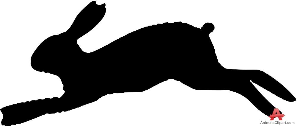 Bunny clipart running. Rabbit silhouette free design