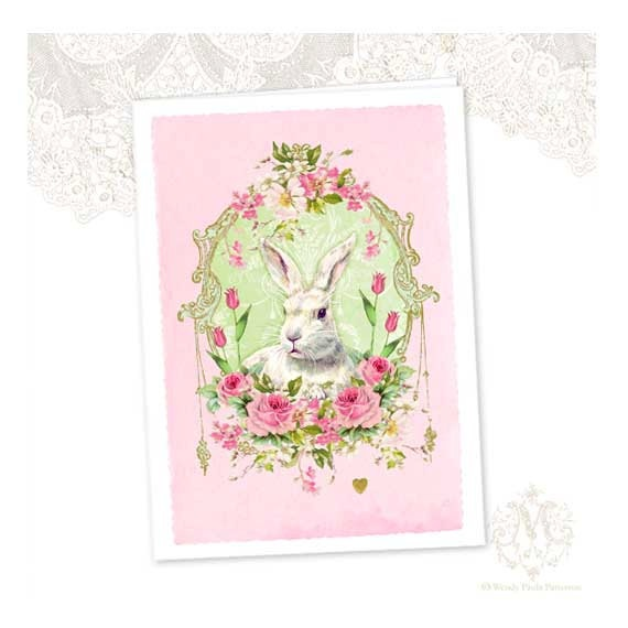 Bunny clipart shabby chic.  best vintage graphic