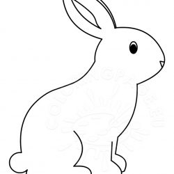 Drawing easy free download. Bunny clipart simple