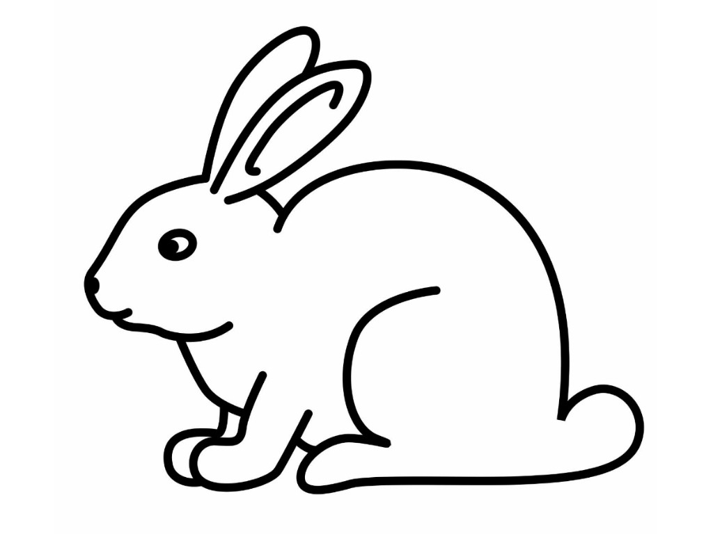 Easter drawing free download. Bunny clipart simple