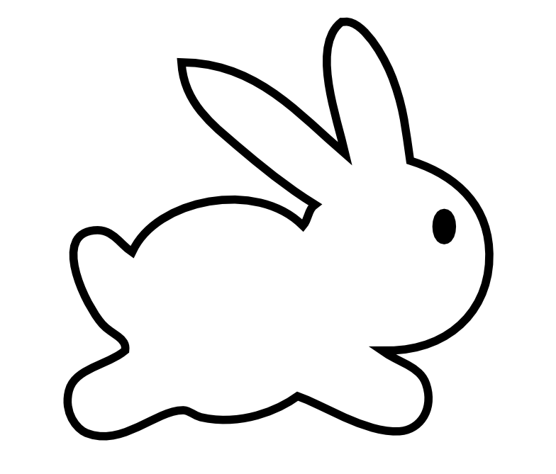 Clipart bunny rabbit. Simple pencil and in