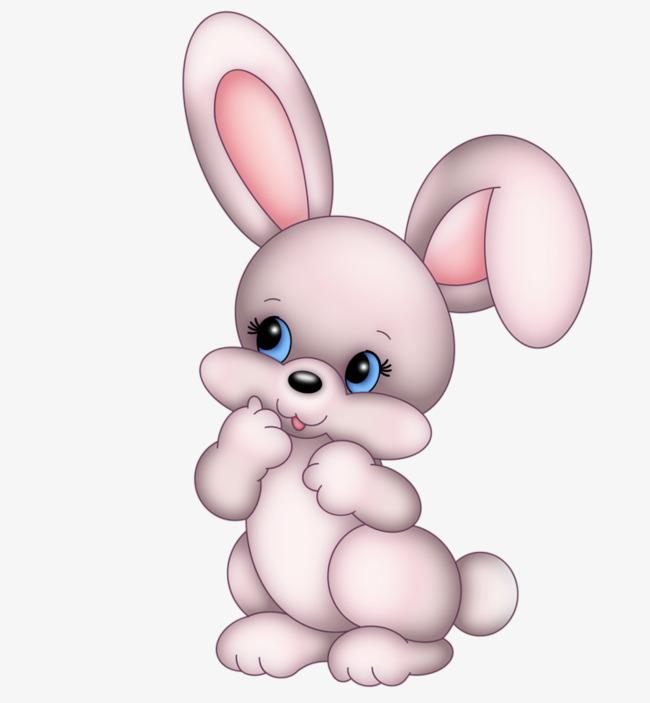 Cute lovely rabbit cartoon. Clipart bunny spring bunny