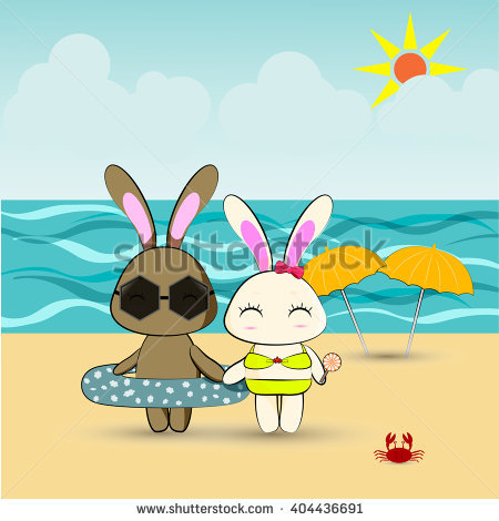 Bunny clipart swimming. Rabbit pencil and in