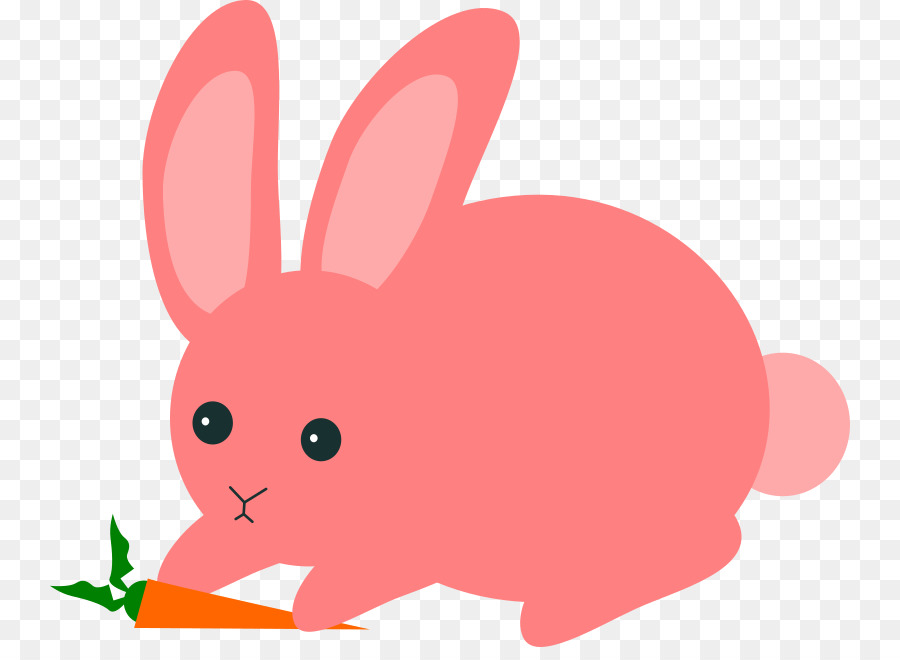 Bunny clipart transparent background. Easter red rabbit pink