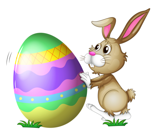 Bunny clipart transparent background. Easter with egg png