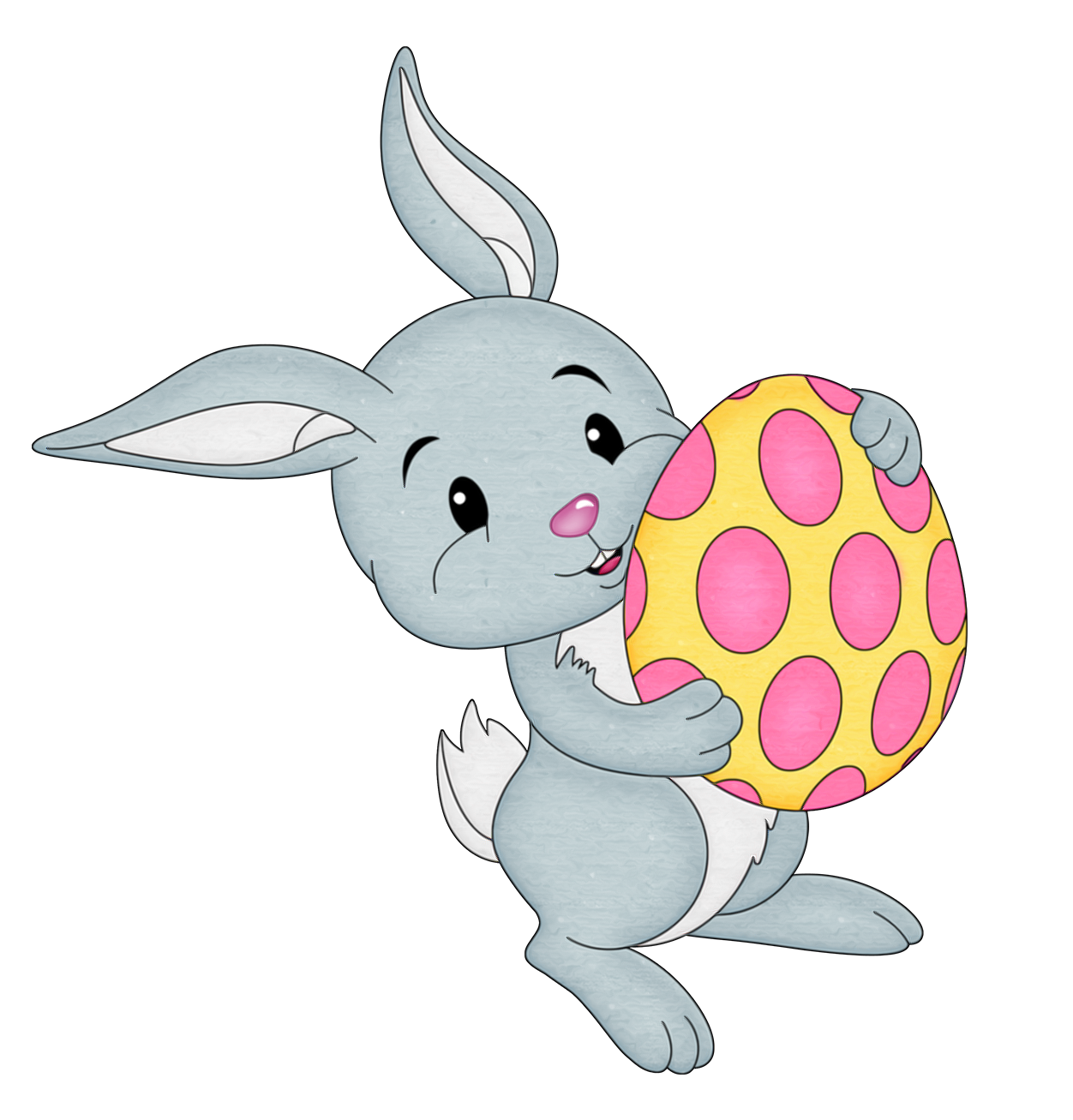 With yellow egg transparent. Pawprint clipart easter bunny