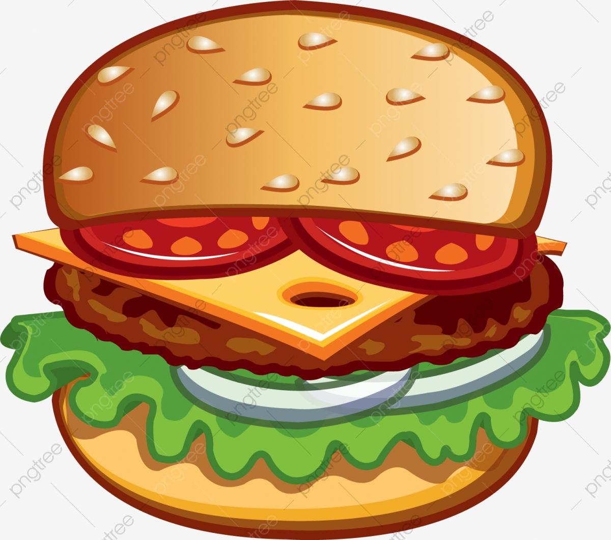 Layered burger hamburger western. Cheeseburger clipart buger