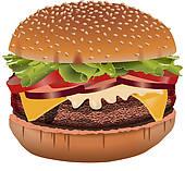 Burger clipart. Clip art royalty free
