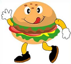 Free cartoon. Burger clipart