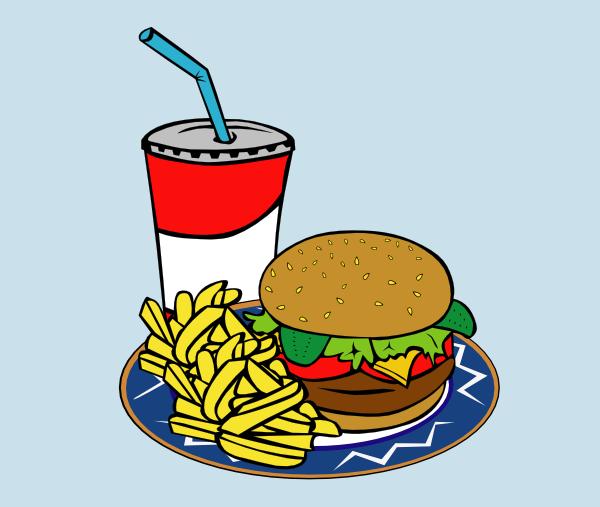 Burger clipart animasi. Fries soda fast food