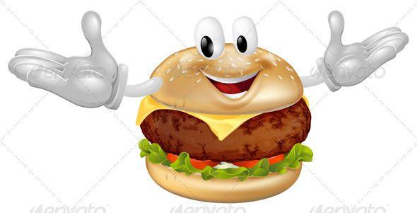Burger clipart animasi. Mascot man burgers font