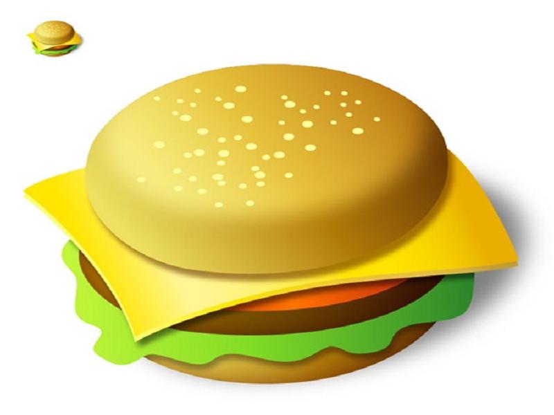 script menu hamburger. Burger clipart animasi