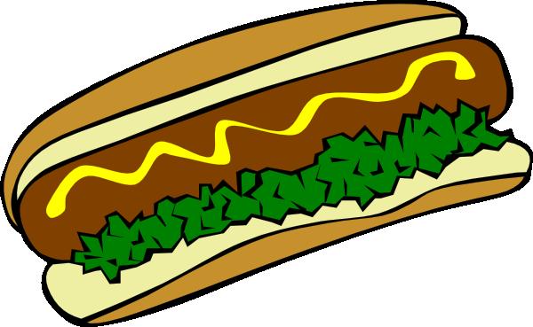 Burger clipart animasi. Hot dog clip art
