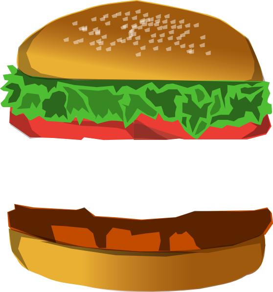 Clipart chicken sandwhich. Burger with space clip