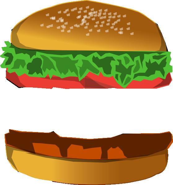 Hamburger clipart chicken burger. With space clip art