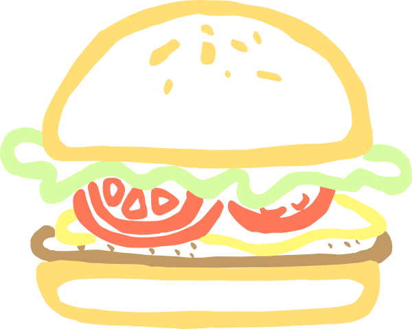 Clip art at clker. Burger clipart animasi
