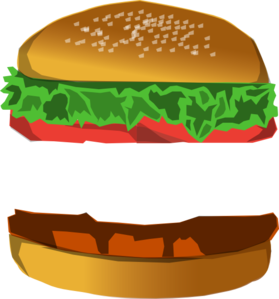 With space clip art. Burger clipart animasi