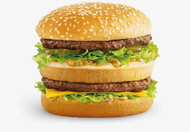 Double hamburger png image. Burger clipart beef burger