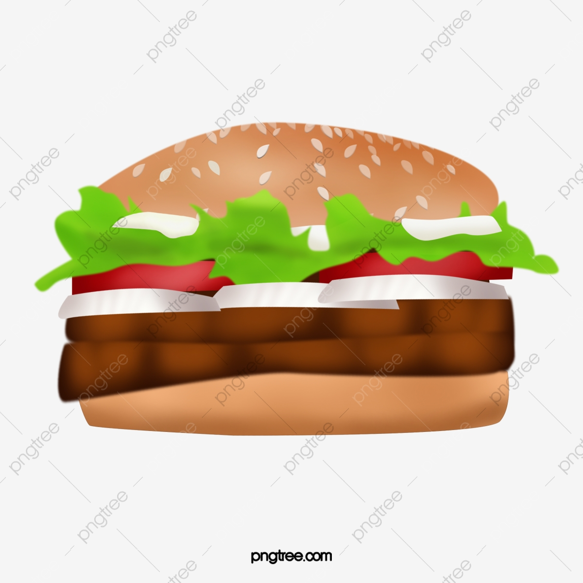 Double product kind hamburger. Burger clipart beef burger