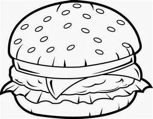 Bun clip art in. Burger clipart black and white