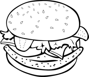 Burger clipart black and white. Station