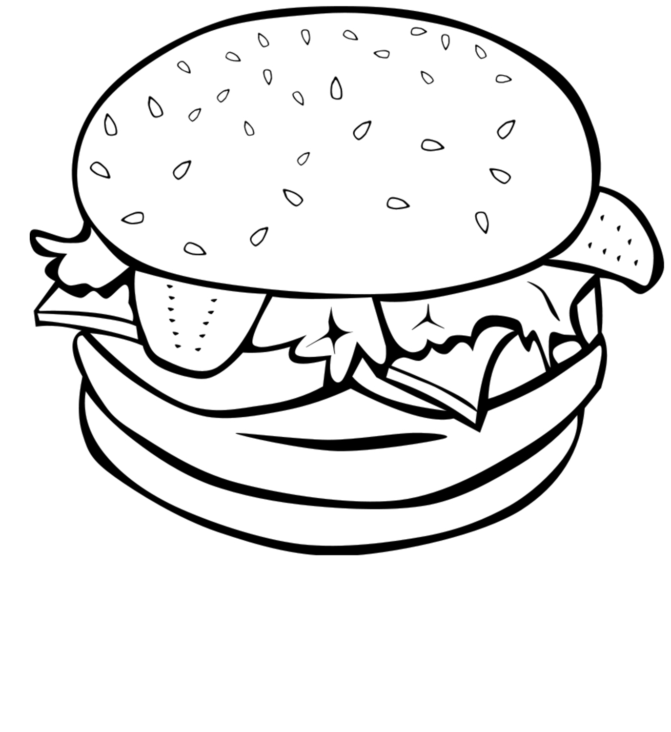 Cheeseburger clipart black and white. Burger the best in