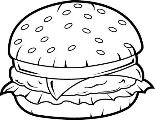 Free hamburger cliparts download. Burger clipart black and white