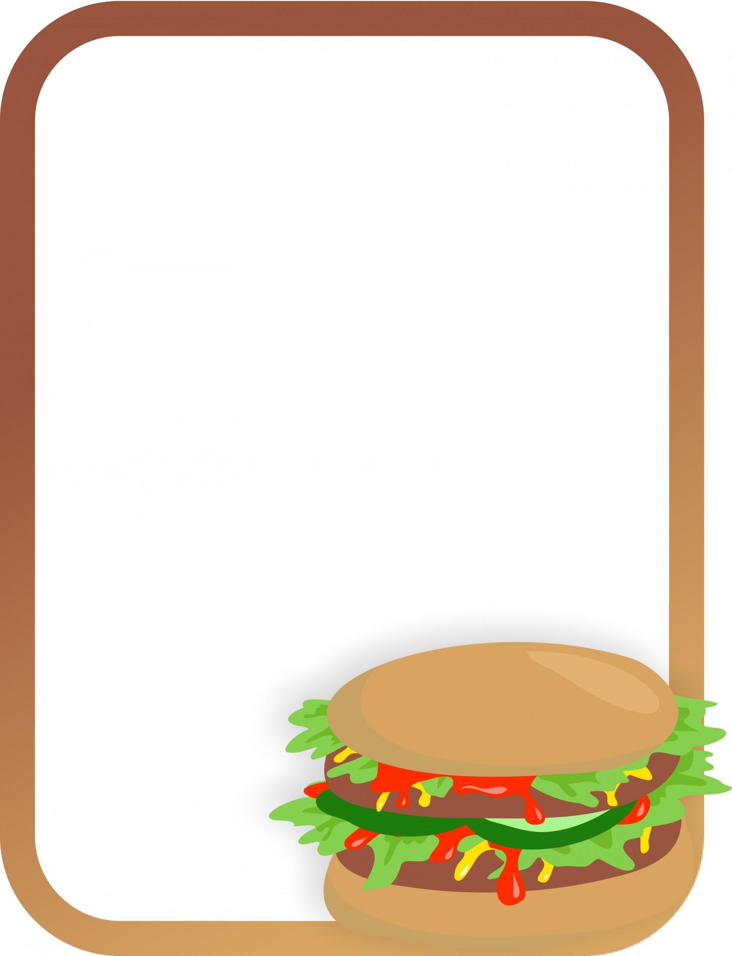 burger clipart border