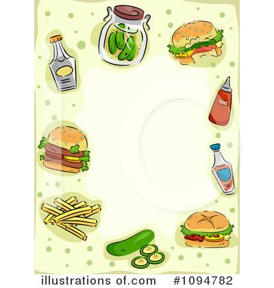 Burger clipart border. Fast food illustration by