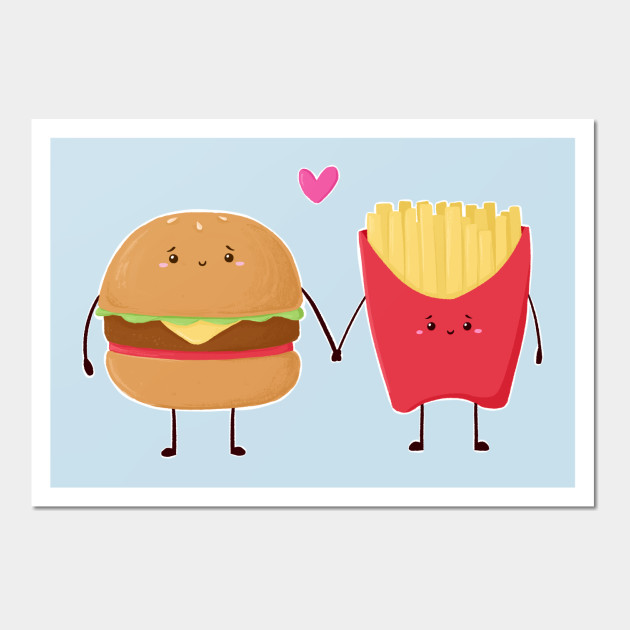 Burger clipart border. And fries love wall