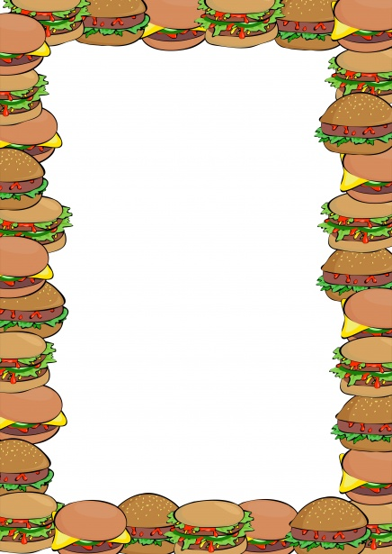Free stock photo public. Burger clipart border