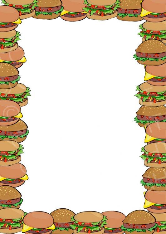 Burger clipart border. Free prawny clip art