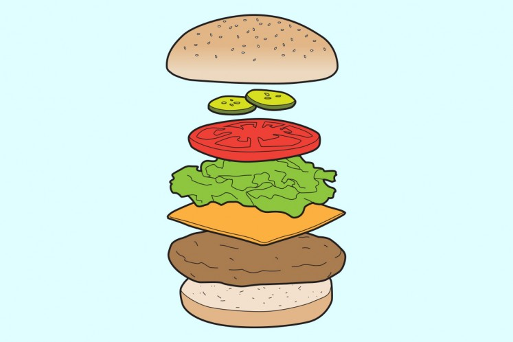How to build the. Burger clipart building