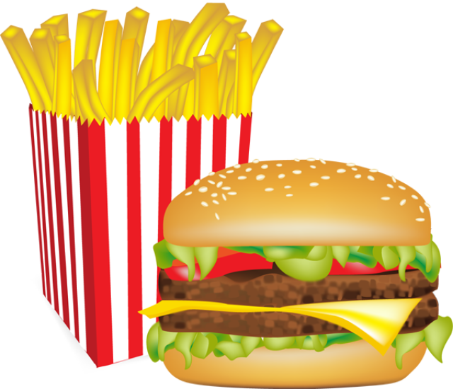 Graphic design french fries. Clipart food hamburger