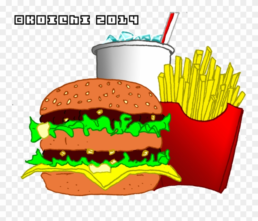 Big mac cartoon png. Burger clipart burger mcdonalds