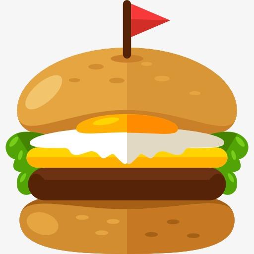 A hamburger food png. Burger clipart cartoon