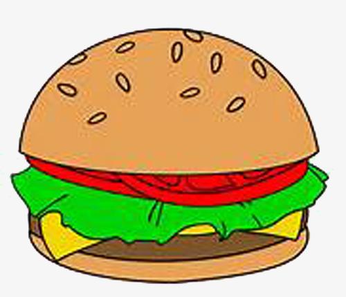 Tasty burger hamburger bread. Cheeseburger clipart cartoon