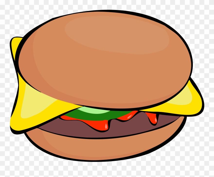 Big image clip art. Burger clipart cartoon