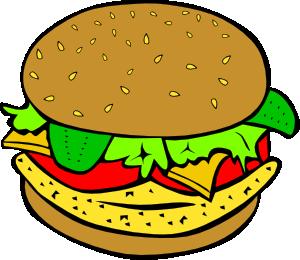 Burger clipart cartoon. Chicken clip art at