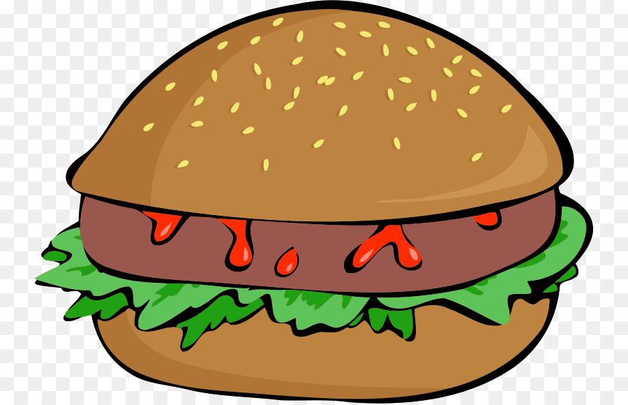 Cartoon hamburger food sandwich. Burger clipart cheeseburger