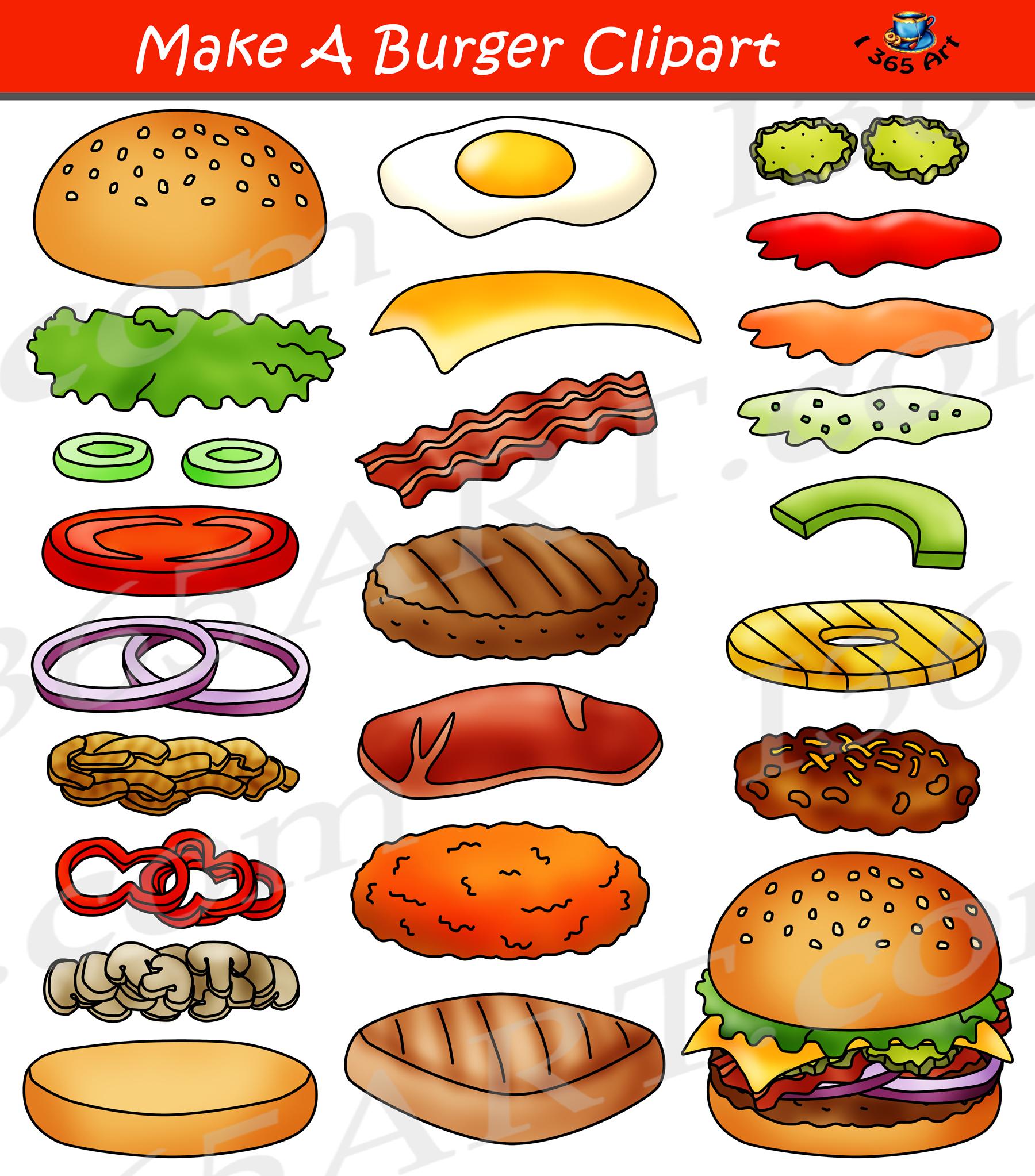 Burger clipart cheeseburger. Build a hamburger maker