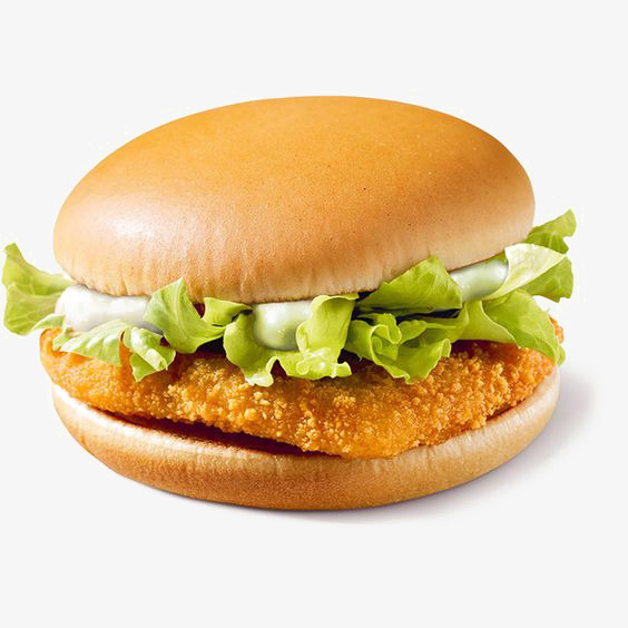 Fried free png image. Burger clipart chicken burger