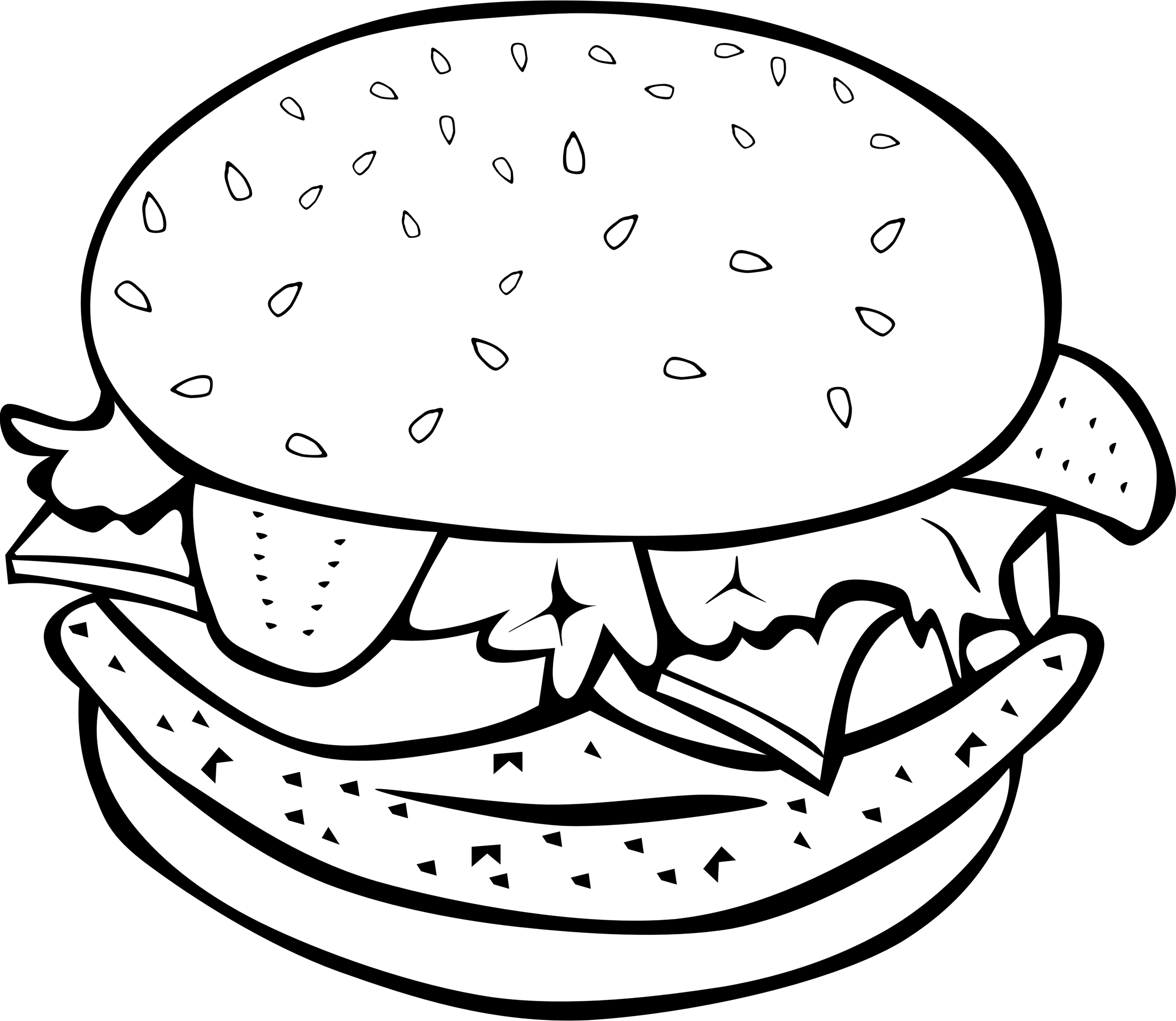 Hamburger clipart printable. Fast food lunch dinner