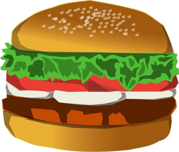 burger clipart chicken burger