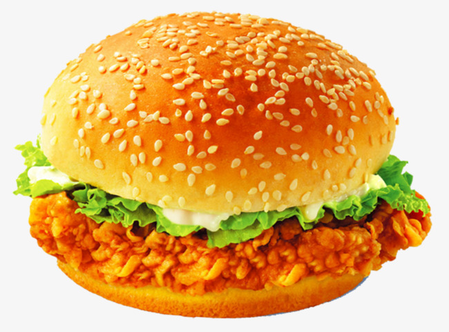 Fried vegetables cheese png. Cheeseburger clipart chicken burger
