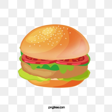 Png images vector and. Burger clipart chicken burger
